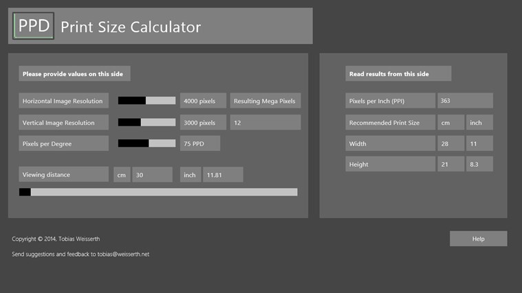 resolution to print size calculator - Siteze