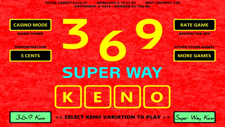 Easiest way to win keno