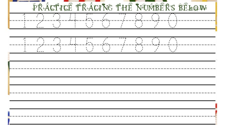 Number Names Worksheets : tracing numbers and letters ~ Free ...