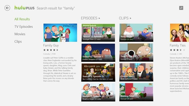 Hulu Plus for Windows 8 and 8.1