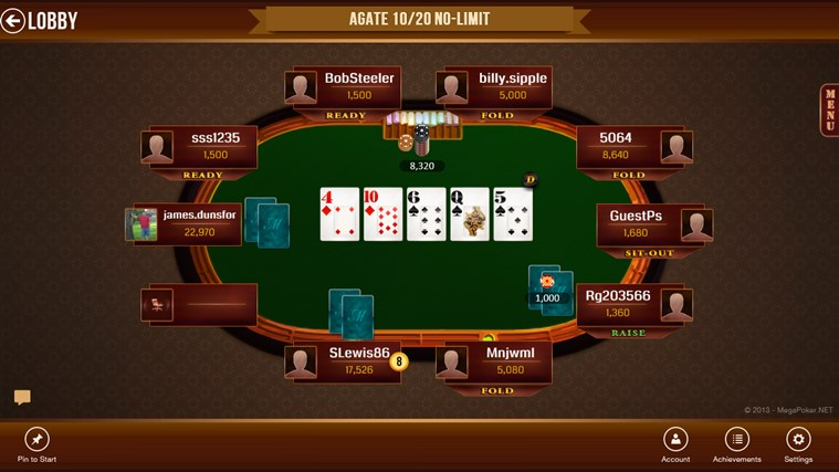 Texas holdem windows 8