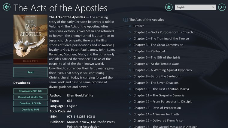 egw writings windows 8 Our main goal was to computerize seventh-day adventist pioneer writings, and   collection was included in the new egw app for windows 8 pcs and tablets.