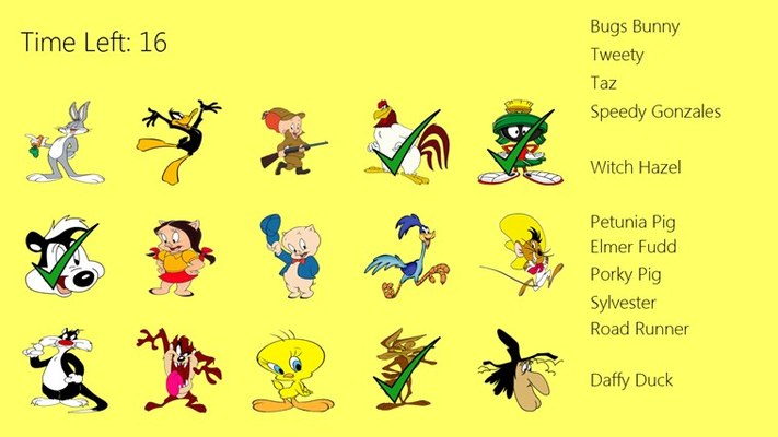 It's just a picture of Intrepid Looney Tunes Character Pictures and Name