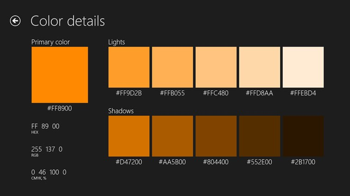 color scheme for windows 8 and 8 1