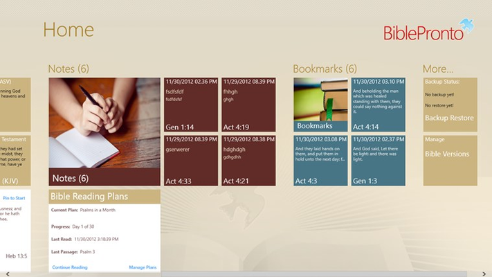 Bible Pronto Pro for Windows 8 and 8 1