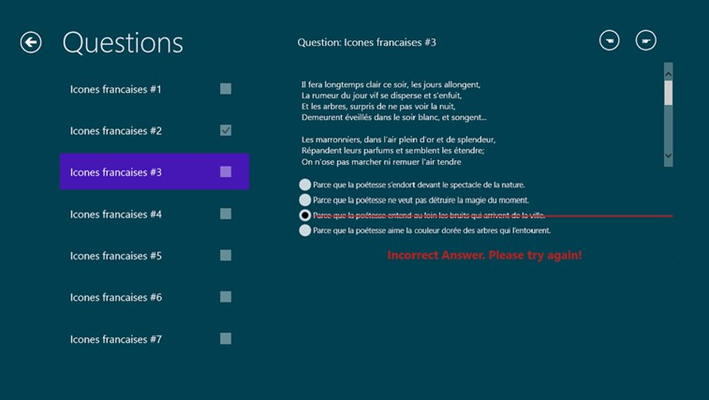 AP French Reading Comprehension Exam Prep for Windows 8 ...
