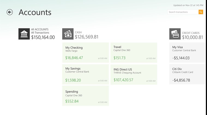 Mint com Personal Finance for Windows 8 and 8 1