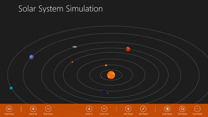 Solar System Simulation for Windows 8 and 8.1