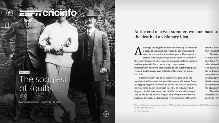 ESPN Cricinfo for Windows 8 and 8 1