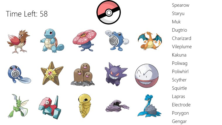 pokemon name match for windows 8 and 8 1