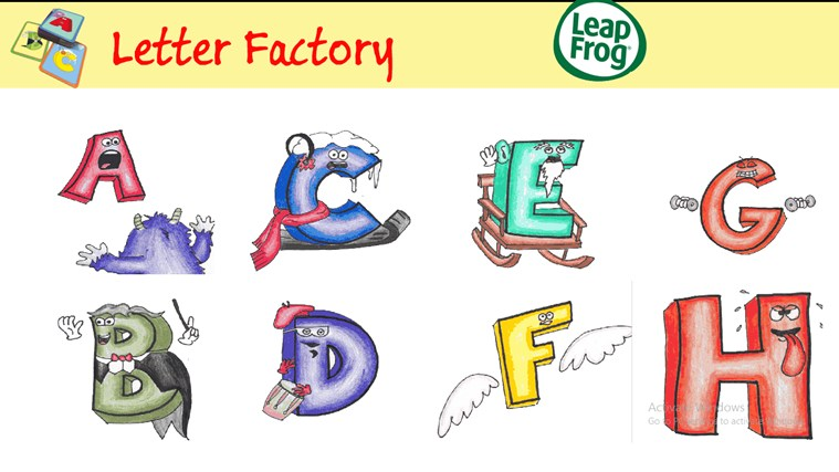 Letter factory for windows 8 and 81 for Abc leapfrog letter factory