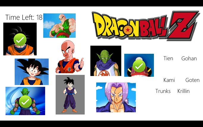 Dragon Ball Z Character Match Up For Windows 8 And 81
