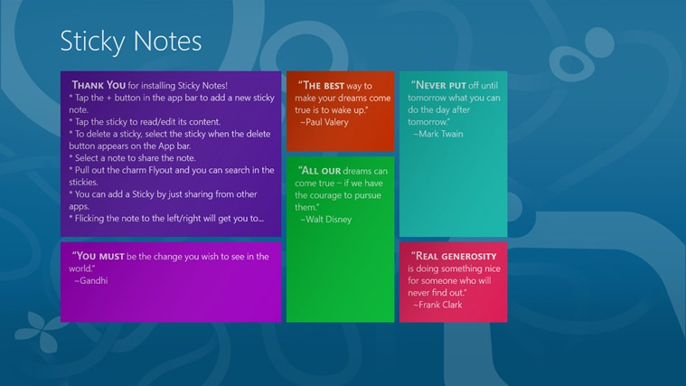 Sticky Notes! for Windows 8 and 8 1