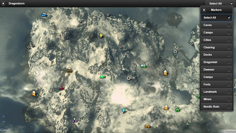 Skyrim Map for Windows 8 and 8.1