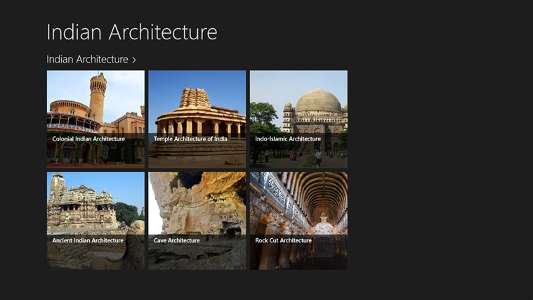 Indian Architecture for Windows 8 and 8 1