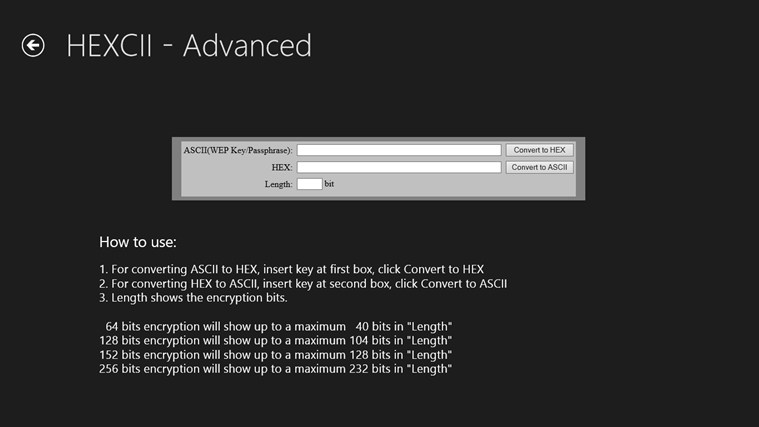 HEXCII - HEX String Converter for Windows 8 and 8 1