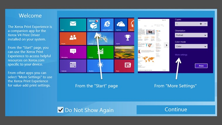 Xerox Print Experience for Windows 8 and 8 1
