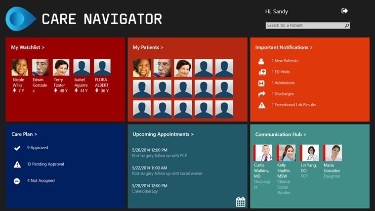 Blueprint care navigator for windows 8 and 81 blueprint care navigator dashboard malvernweather Gallery
