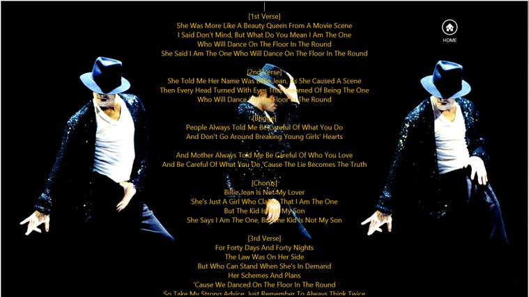 Michael Jackson Lyrics for Windows 8 and 8 1