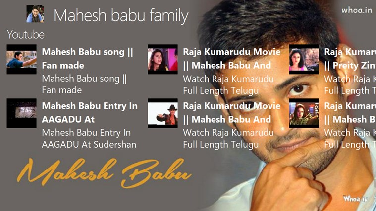 Mahesh babu family for Windows 8 and 8 1