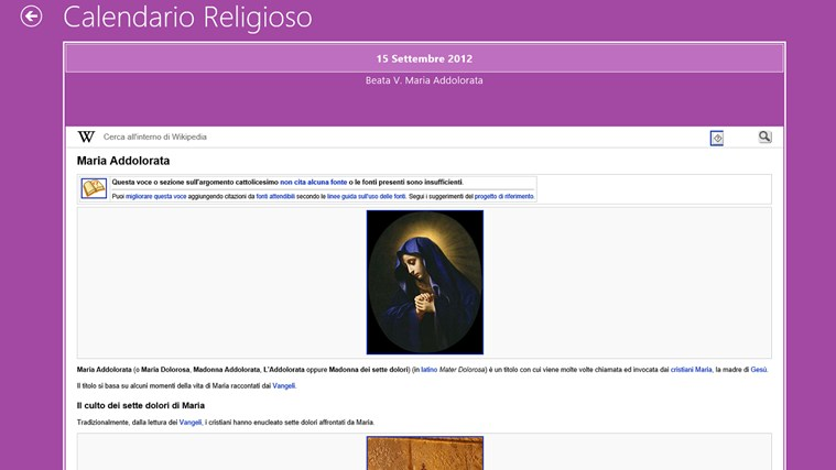 Calendario Religioso.Calendario Religioso For Windows 8 And 8 1