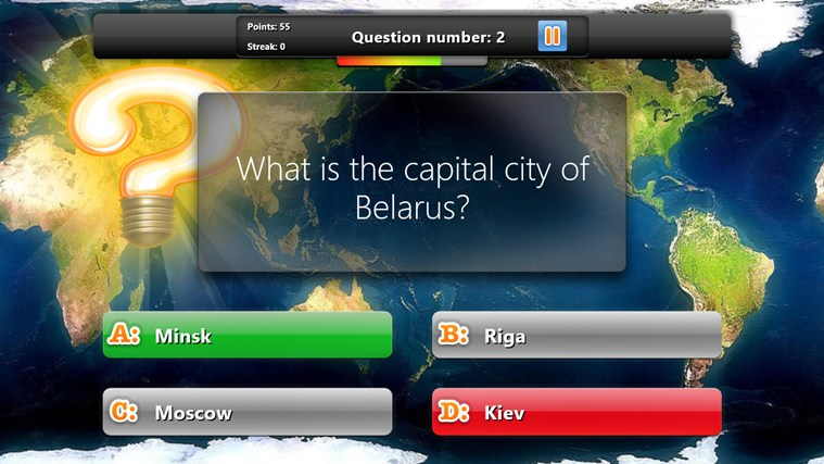 Geography Quiz Game for Windows 8 and 8 1