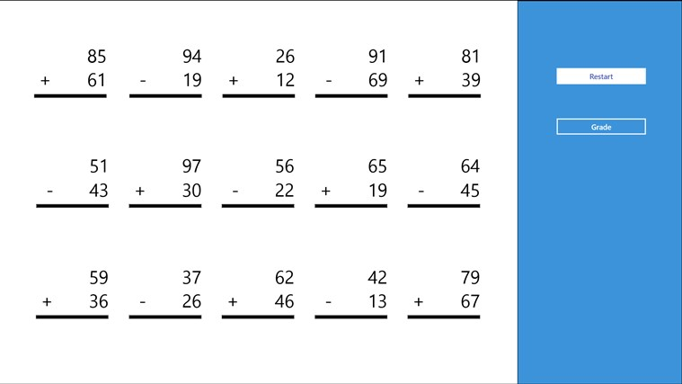 Addition And Subtraction Worksheet For Windows 8 And 81
