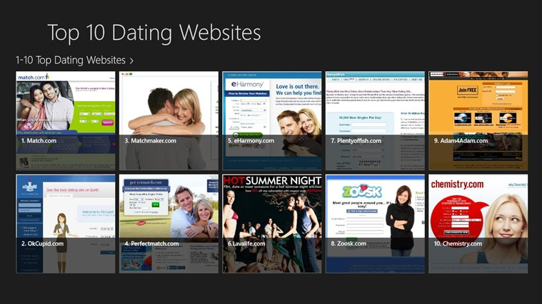 Ten best dating websites