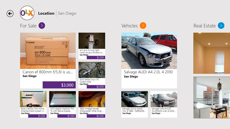 OLX Free Classifieds for Windows 8 and 8 1