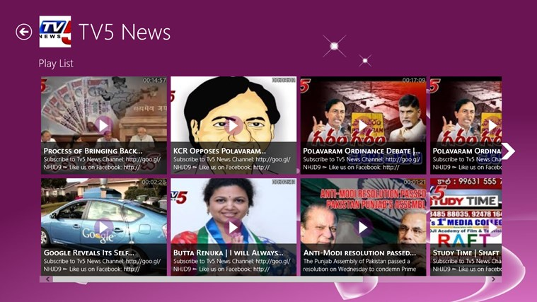 Telugu TV for Windows 8 and 8 1