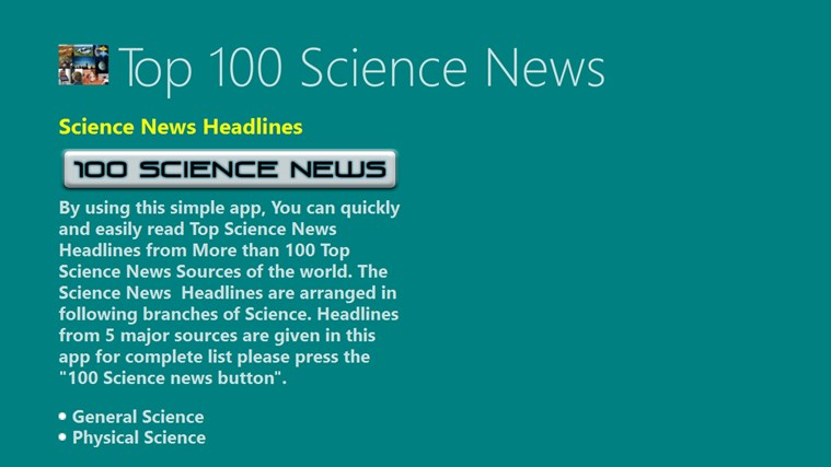science headlines rss feeds directory regularly updated bestwindows8apps