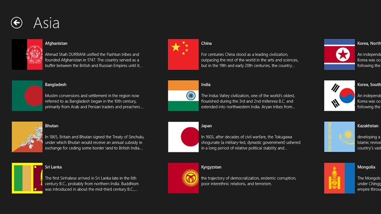 The World Factbook 2013 for Windows 8 and 8 1