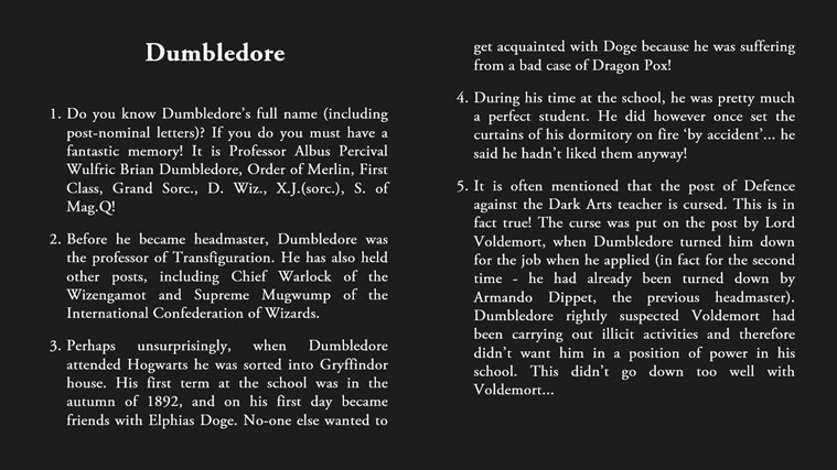 Harry Potter Book Facts : More amazing harry potter facts for windows and
