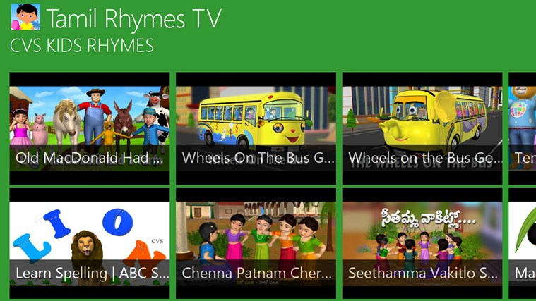 Tamil Rhymes TV for Windows 8 and 8 1
