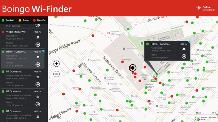 Boingo WiFinder For Windows And - Wifi map for windows