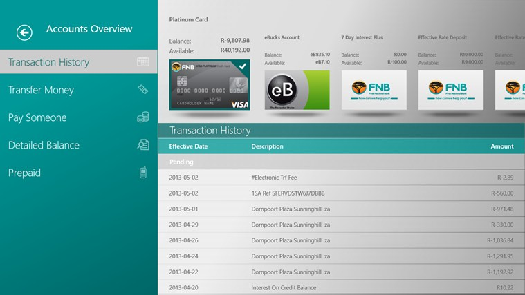 Fnb Banking App For Windows 8 And 8 1