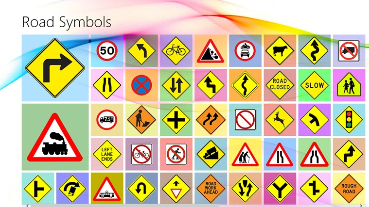 Road Symbols For Windows 8 And 81