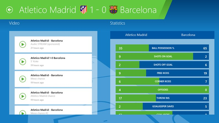 SofaScore LiveScore - Live sports results and scores for Windows 8