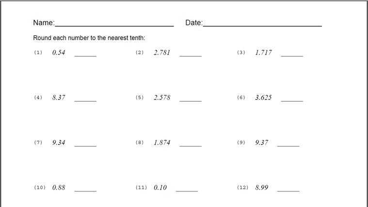 rounding decimal worksheet for windows 8 and 8 1. Black Bedroom Furniture Sets. Home Design Ideas