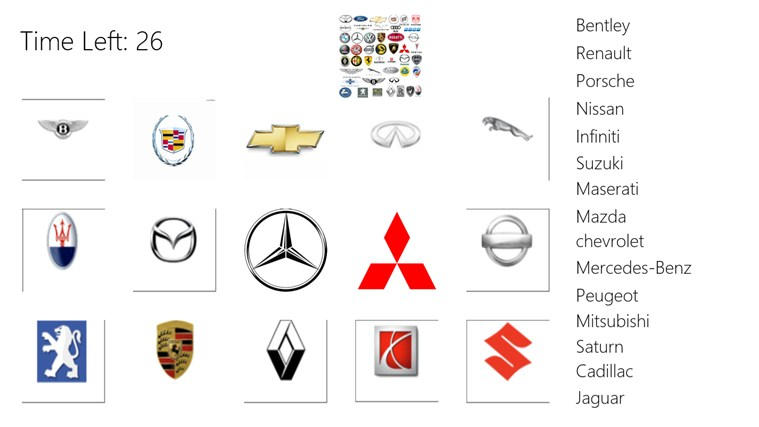Logo Game: Cars For Windows 8 And 8.1