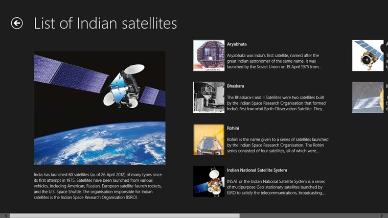 FAMOUS SATELLITES IN INDIA For Windows 8 And 81