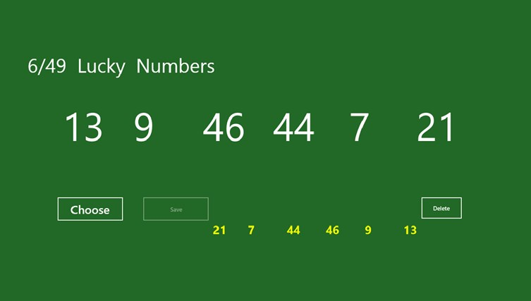 6/49 Lucky Numbers for Windows 8 and 8 1