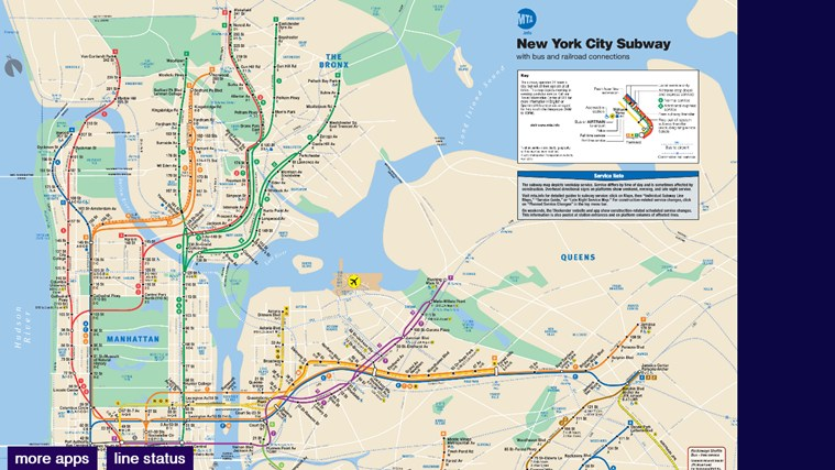 New York Subway Map Mobile.New York City Subway Map For Windows For Windows 8 And 8 1