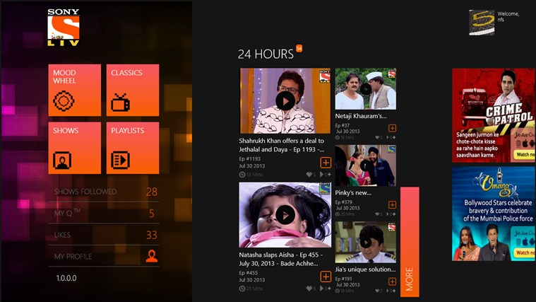Sony Liv. Courtesy: bestwindows8apps