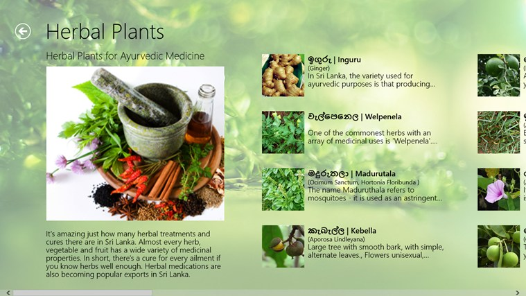 Herbal Plants Of Sri Lanka For Windows 8 And 8 1