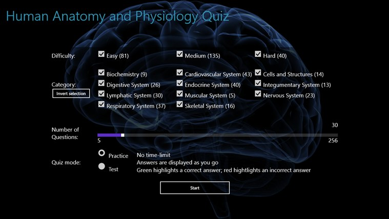 Human Anatomy and Physiology Quiz for Windows 8 and 8.1