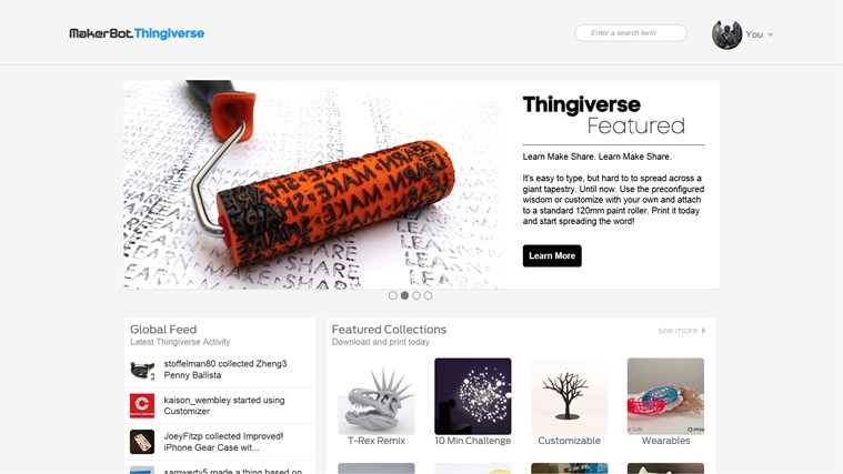 MakerBot Thingiverse for Windows 8 and 8 1