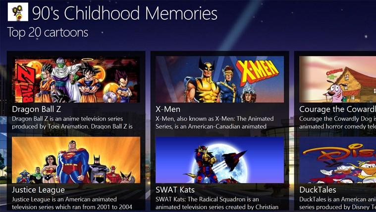 90's Childhood Memories for Windows 8 and 8 1