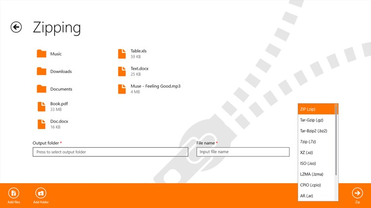 UnZip (AD Free) for Windows 8 and 8 1