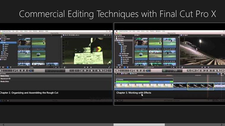 Commercial Editing Techniques with Final Cut Pro X for